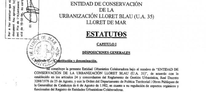 Estatutos ECU Lloret Blau (UA 35)