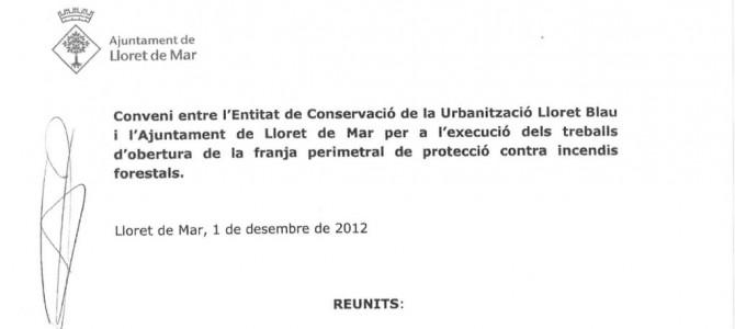 Convenio de obras de franja 2012