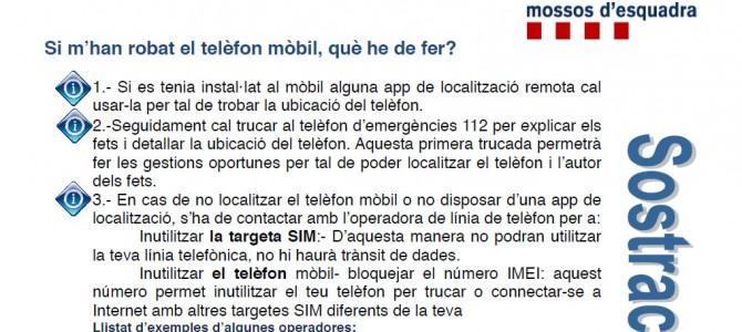 Guía de actuación en caso de sustracción de teléfonos móviles