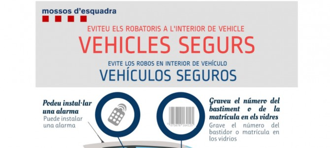 Evite los robos en el interior del vehículo