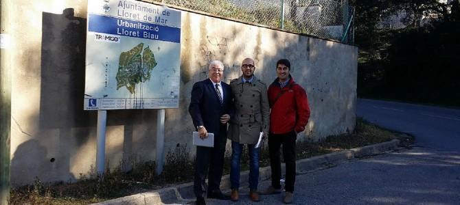 El Alcalde, Sr. Jaume Dulsat, y el primer teniente de Alcalde, Sr. Albert Robert, han visitado Lloret Blau
