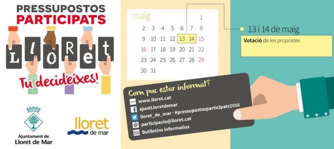 Votació pressupostos participats -Ajuntament-